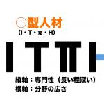 何型人材になりますか?〜I型・T型・π型・H型人材とは〜